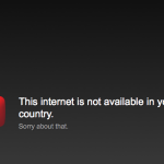 This Internet is not available in your country