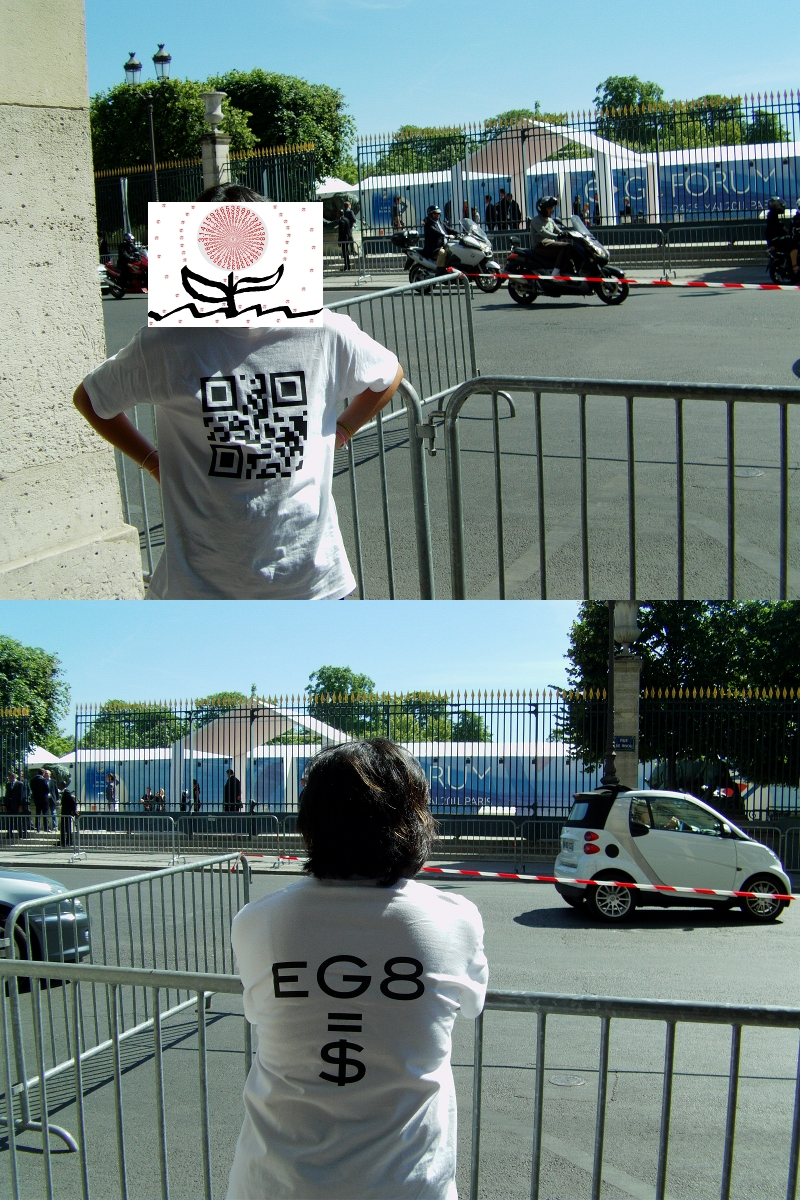 T-Shirt with QR code : SUDO CURE GREED eG8=$